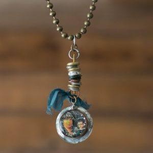 Madonna & Child Necklace is one-of-a-kind and handmade